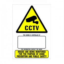 CCTV Cameras In Operation Warning Sign - A5