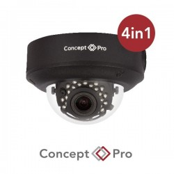Concept Pro 2MP 4-in-1 Analogue Motorised External IR Dome Black Camera