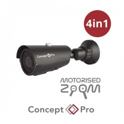 Concept Pro 2MP 4-in-1 AHD Motorised Lens Medium Bullet Camera
