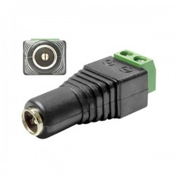 DC 2.1 x 5.5mm Female Socket to Dual Screw Terminal To Power Socket Connector