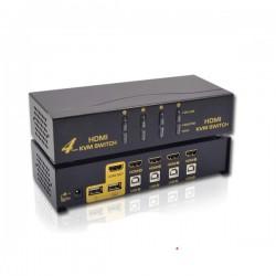 KVM Switch - 4 Port USB HDMI KVM Switch