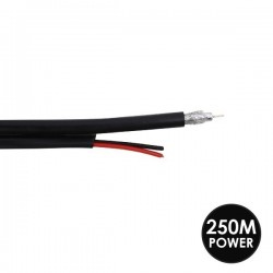 RG59 Coaxial Cable with Power Cable (Shotgun Cable)