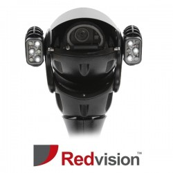 X-Series™ Ruggedized Analogue 20x with Duel Infrared, White light, and Wiper Black CCTV Camera
