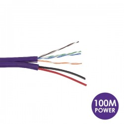 CAT5 with Two Core Power 100 Meters Purple Cable