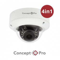 Concept Pro 2MP 4-in-1 Analogue Varifocal External IR Dome White Camera