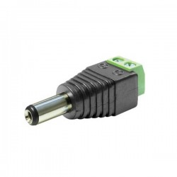DC 2.1 x 5.5mm Plug Dual Terminal To Power Jack Block Connector