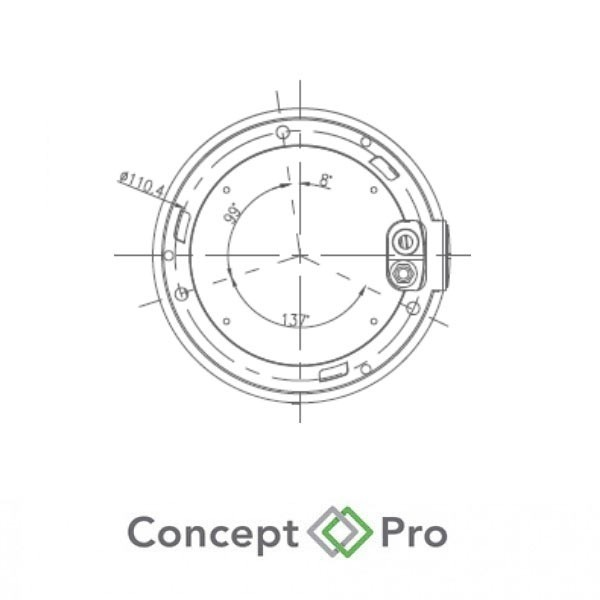 Concept Pro 4mp Ip Varifocal External Dome Camera