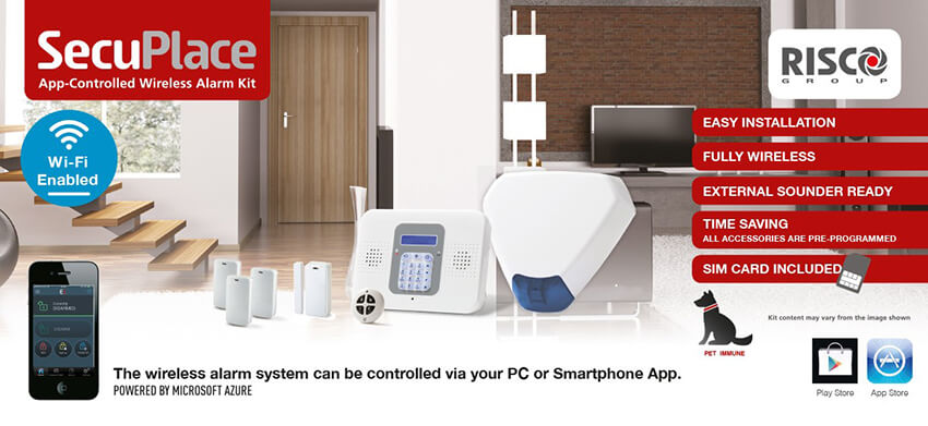 SecuPlace App-Controlled Wireless Alarm Kit