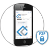 Concept Pro App displaying P2P Networking